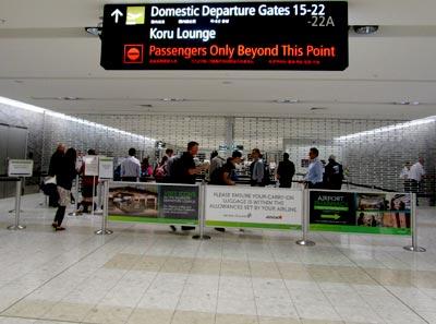 ニュージーランド航空 クライストチャーチ空港