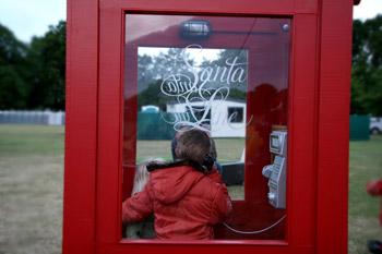 サンタさんに電話がつながる