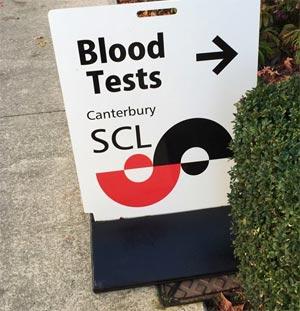 血液検査 クライストチャーチ