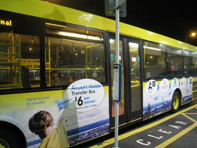 オークランド空港からのバス