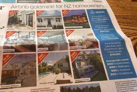 airbnb ニュージーランド