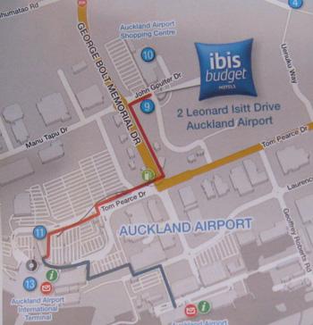 オークランド空港すぐ側のホテル