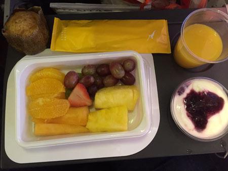 カンタス航空 機内食