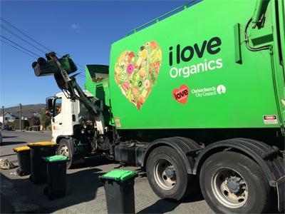 ニュージーランドのゴミ収集車