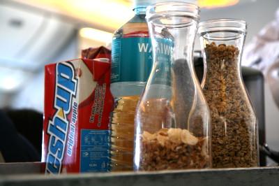 ニュージーランド航空 プレミアムエコノミー 朝食