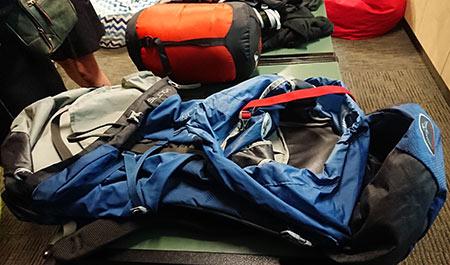 スーツケースじゃなくてリュックサック
