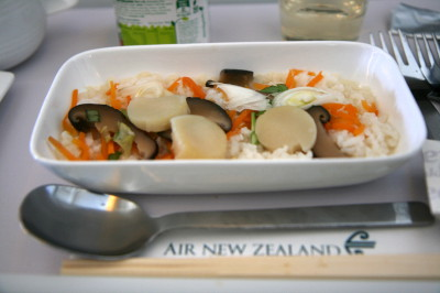 ニュージーランド航空 プレミアムエコノミーの機内食