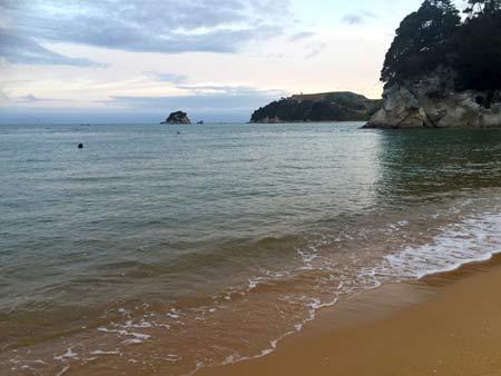 ニュージーランドのキレイなビーチ