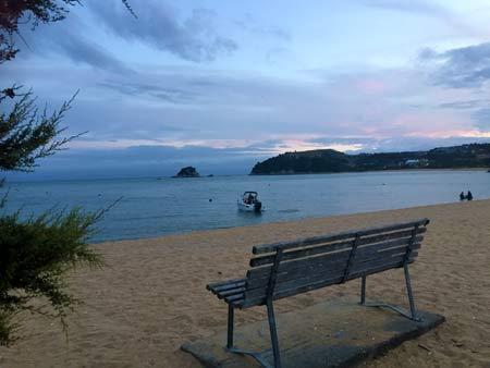 ニュージーランドのビーチリゾート