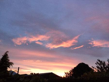 ニュージーランドの夕日