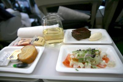 ニュージーランド航空 機内食 ディナー