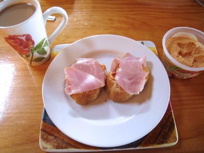ニュージーランド スーパーで買ったので作った朝食