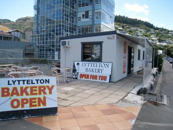 プレハブの仮設店舗 ニュージーランド