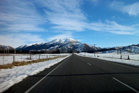 雪のニュージーランド
