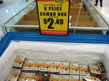 ニュージーランドのスーパーで買える冷凍すし