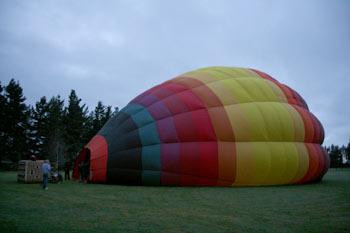 クライストチャーチで熱気球