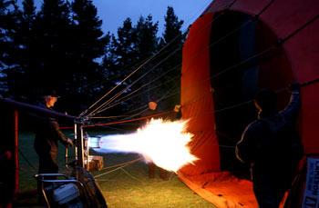 ニュージーランドで熱気球