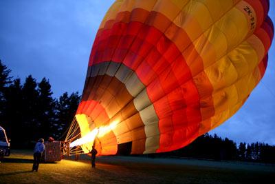 熱気球 早朝