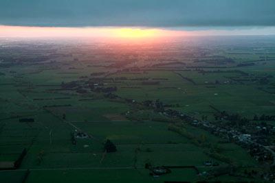 熱気球で見た日の出