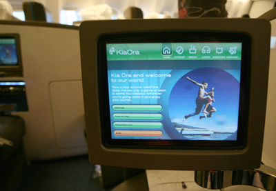 ニュージーランド航空の機内エンターテインメント