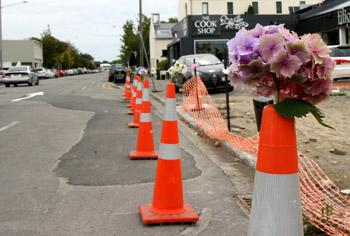 ニュージーランド地震 花