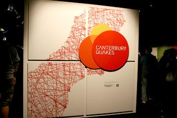 カンタベリー地震 展示