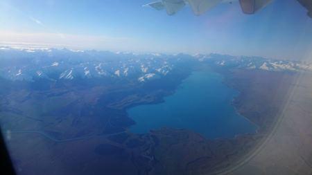空からテカポ湖