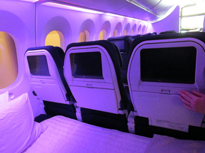 Air New Zealand sky couch