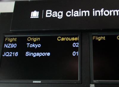 オークランド空港 手荷物