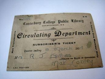 ニュージーランド 昔の図書カード