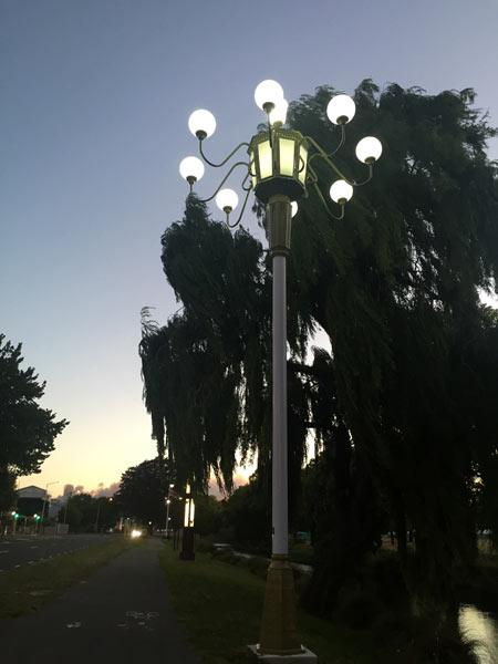 街灯 ニュージーランド