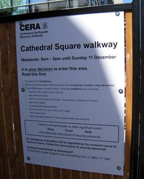 クライストチャーチ大聖堂まで歩く
