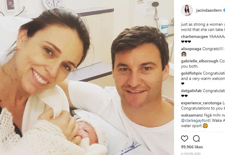 ニュージーランド首相出産